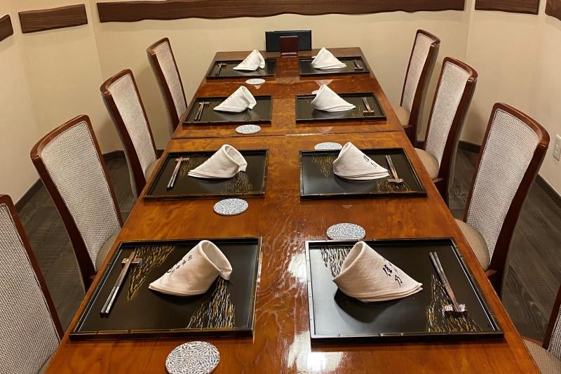 特別個室は接待や会席、大事な記念日のお席としてお使いいただけます。